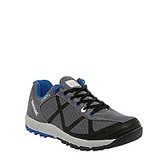 Regatta - Grey/blue hyper-trail low walking shoe