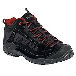 Regatta - Black/red edgepoint mid walking boot