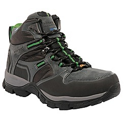 Regatta - Grey / green frontier walking boot