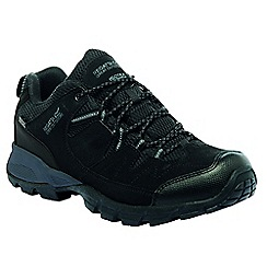 Regatta - Black holcombe walking shoe