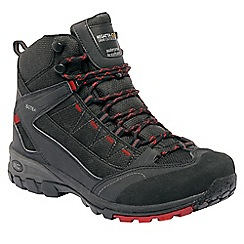 Regatta - Black/red ultra-max ii mid walking boot