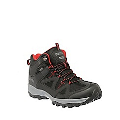 Regatta - Black/red Gatlin mid hiking shoe