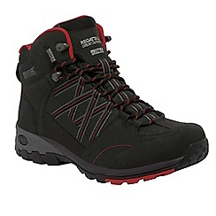 Regatta - Black/red samaris mid lightweight walking boot