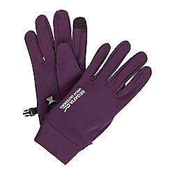 Regatta - Purple Touch tip softshell glove