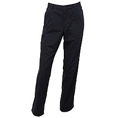 Regatta - Navy lined crossfell trousers - long leg length