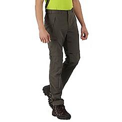 Regatta - Khaki leesville zip off trousers