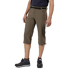 Regatta - Brown xert stretch capri trousers