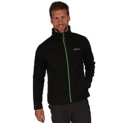 Regatta - Black / green cera softshell jacket