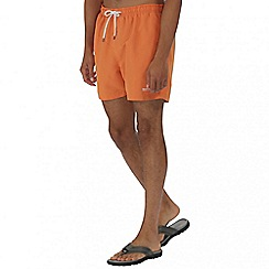 Regatta - Orange mawson swim shorts