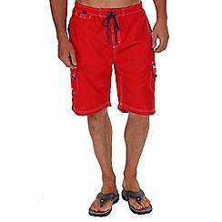 Regatta - Red hotham board shorts