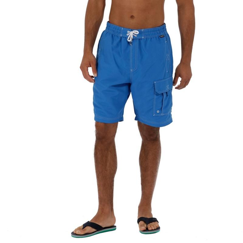 Regatta - Blue 'hotham' Swim Board Shorts Picture
