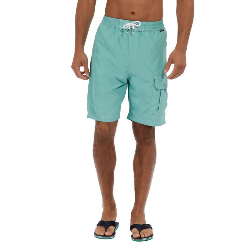 Regatta - Green 'hotham' Swim Board Shorts Picture