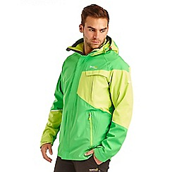 Regatta - Bright green glyder waterproof jacket