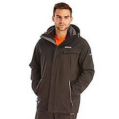 Regatta - Black glyder waterproof jacket