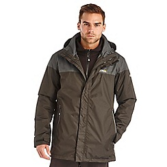 Regatta - Black / grey bakewell waterproof jacket