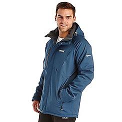 Regatta - Blue holliston waterproof jacket