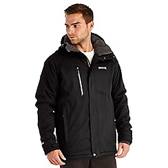 Regatta - Black holliston waterproof jacket