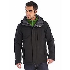 Regatta - Black northmore 3 in 1 waterpoof jacket