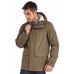Regatta - Khaki sternway insulated waterproof coat