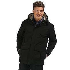 Regatta - Black sternway insulated waterproof coat