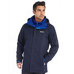 Regatta - Navy telmar 3 in 1 waterproof jacket