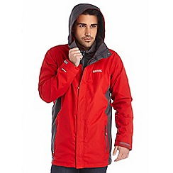 Regatta - Red telmar 3 in 1 waterproof jacket