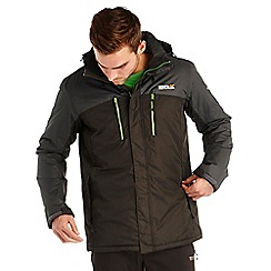 Regatta - Grey/black fabens waterproof jacket