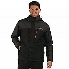 Regatta - Black ash Fabens waterproof jacket