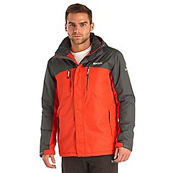 Regatta - Grey/red fabens waterproof jacket