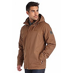 Regatta - Brown hesper waterproof jacket
