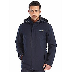 Regatta - Navy hackberry waterproof jacket