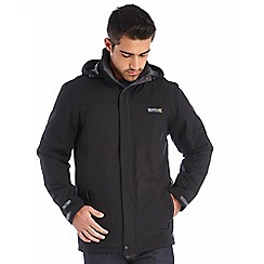 Regatta - Black hackberry waterproof jacket