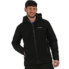 Regatta - Balck Grisedale hybrid waterproof jacket