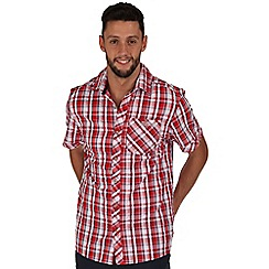 Regatta - Deep red deakin checked shirt
