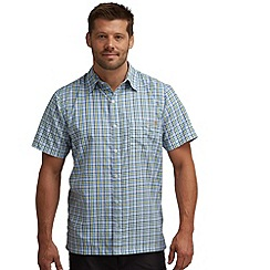Regatta - Oxford blue shuksan short sleeved checked shirt