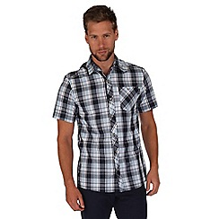 Regatta - Navy elkis checked shirt
