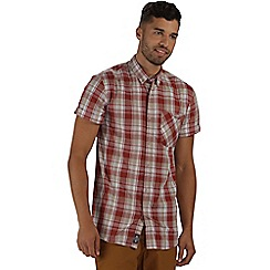 Regatta - Burgundy efan short sleeved shirt