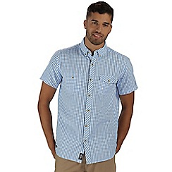 Regatta - Blue randall short sleeved shirt