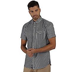 Regatta - Navy randall short sleeved shirt