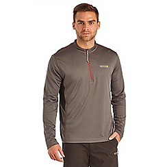 Regatta - Seal grey froswick zip sports top