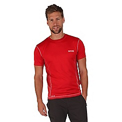 Regatta - Red jenolan lightweight t-shirt