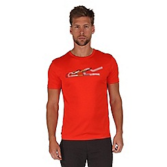 Regatta - Orange fingal print t-shirt