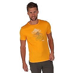 Regatta - Yellow fingal print t-shirt