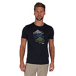 Regatta - Navy fingal print t-shirt
