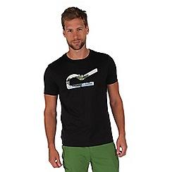 Regatta - Black fingal print t-shirt