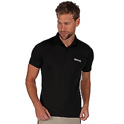 Regatta - Black maverik polo shirt