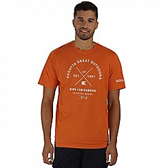 Regatta - Orange Cline printed t-shirt
