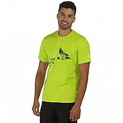Regatta - Lime green Fingal printed t-shirt