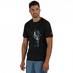 Regatta - Black Fingal printed t-shirt