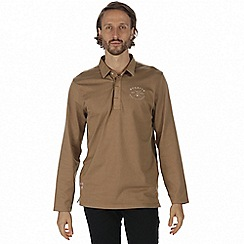 Regatta - Brown 'Pierce' rugby shirt